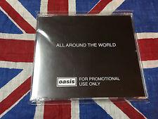 Oasis All Around The World UK CD Promo SINGLE         MAIDEN METALLICA SCORPIONS