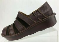 Spring Step Firefly Loafers Brown Burgundy Leather Comfort Womens Sz 39 US 8.5