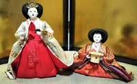 LOT 2 Vintage Japanese Hina doll in Kimono Geisha Plush Figure Lovely Kawaii