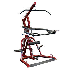 Body-Solid GLGS100 Corner Leverage Gym - Plate Loaded Strength Equipment - Red
