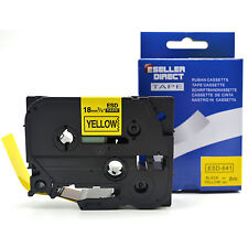 1 x TZ-641 Compatible for Brother Laminated Label Tape Black on Yellow 18mm x 8m