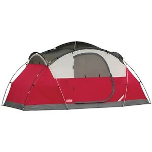 Coleman Cimmaron 8 Person Dome Tent Camping Outdoor Beach Waterproof