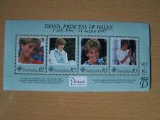 SEYCHELLES,DIANA,1997,M/SHEET OF 4 VALS,U/MINT,EXCELLENT.
