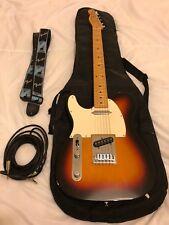 Fender Telecaster-Zurdo-tres colores Sunburst-utilizado: muy buen estado