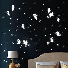 PEGATINAS LUMINOSAS elfo Unicornio Estrellas wandtattoo-loft 12320 Fluorescente