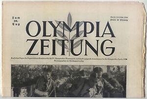 15.02.1936 OLYMPIA ZEITUNG Number 11 - Olympic Games Garmisch-Partenkirchen 1936