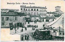 CARTOLINA d'Epoca: REGGIO EMILIA - MONTECCHIO - MERCATO