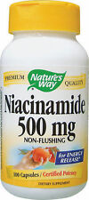 2 x B-3 - Niacinamide, Non-Flushing, 500 mg, 100 Capsules(200 Caps in Total)