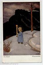 SCHIEFTL Wintermarchen Angelo con Cero Neve Angel PC Circa 1920