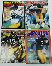 Pittsburgh Steelers Magazine Covers Lot (4) 1974-1983