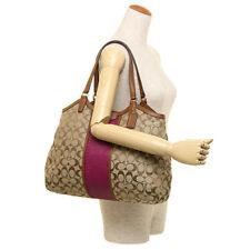 Paypal Coach Bag F31444 Signature Stripe Snakeprint Shoulder Bag Agsbeagle #COD