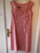 LADIES Blanes couture VINTAGE 60s PINK LACE party cocktail DRESS 14 fits UK12