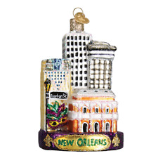 Old World Christmas New Orleans (20089)X Glass Ornament w/ Owc Box