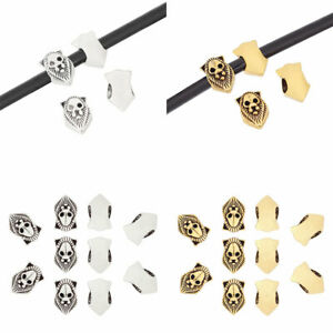 20 x Silver/Gold Tone Lion Head Spacer Beads for Bracelet DIY Jewellery Making