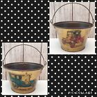 🔴 1910 Cadillac & Ford Auto Decal Metal Beer Ice Bucket with Handle