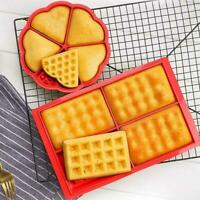 DIY Silicone Waffle Shaped Baking Mould Pan Cake Chocolate Bake Cookie M7E6