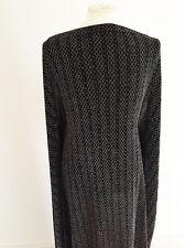 Sparkling Silver Diamond Striped Stretch Jersey Dressmaking Fabric