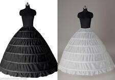 Noir Blanc 6 cerceau robe de bal de mariage nuptiale Jupon Crinoline Petticoat