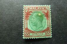 STRAITS SETTLEMENTS  1936  $5  George V  SG 274   mint