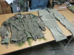 USGI Real US Ranger Ghillie Suit Camo Camouflage Military Hunting Custom Made!!