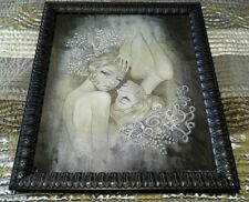 Audrey Kawasaki Two Sisters Framed Print Mint NOT Dishonest Heart Carry On