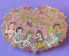 FANTASY PARTY Pink GLITTER 6 PRINCESS Ariel HTF JUMBO 2004 LE 500 JDS DISNEY PIN