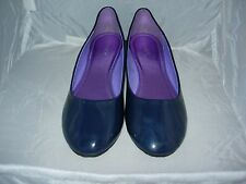 CHIX BLUEBERRY C PAT FLAT HEEL SHOES SIZE 7 UK 40 EURO CASUAL,WORK,PARTY, NEW