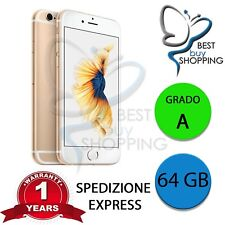 IPHONE 6s RIGENERATO GRADO A 64GB 64 GB ORO ORIGINALE APPLE + GARANZIA 1 ANNO