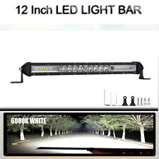 12 Inch LED Single-Row Work Light Bar Flood Spot Driving Lamp Truck 4WD Off-Road