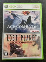 Japanese Xbox 360 Ace Combat 6 Fires of Liberation Lost Planet Colonies Capcom