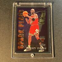 MICHAEL JORDAN 1996 TOPPS #SP2 SPARK PLUGS FOIL INSERT CARD CHICAGO BULLS NBA MJ
