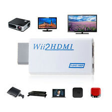 NEW Wii To HDMI Upscaling Converter Adapter with 3.5mm Audio Output 480p US