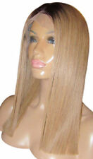 Full Lace Cap Medium Length Straight Wigs for Women