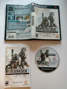 Metal Gear Solid 2:  Substance Sony Playstation 2 PS2 Game + manual Complete CIB