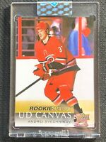 2018-19 UPPER DECK CLEAR CUT ANDREI SVECHNIKOV ROOKIE DEBUT CANVAS #RD-7