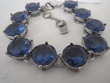 Betsey Johnson silver tone~blue stone bracelet, NWT
