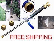 New High Power Pressure Washer Water Spray Gun Wand Attachment Jet / Fan BLACK