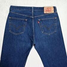 Mens LEVIS 501 Straight Jeans size W36 L30 Regular fit Button Fly mid Blue denim