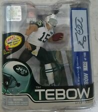 McFarlane NFL Series 31 Tim Tebow New York Jets White Jersey Autograph #140/150