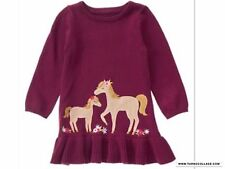 NEW Gymboree PLUM PONY Horse knit dress NWT sizes 18-24 mths, 2T, 3T, 4T, 5T