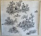 Original French Painting 20th Century For Textile Development Of Scenic Toile