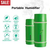 Mini Car USB LED Air Humidifier Diffuser Essential Oil Aroma Mist Purifier 130ML