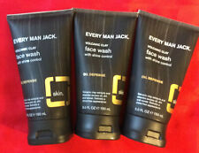 3** Every Man Jack Face Wash - Volcanic Clay - Shine Control Oil Defense  5 oz