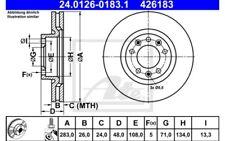 1x ATE Disco de freno delantero Ventilado 283mm 24.0126-0183.1