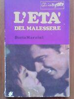 Dacia Maraini - L'Età del malessere - Gli Integrali - C.E.T. Editrice Anno 1968