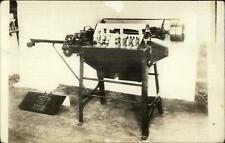 Agriculture Machinery History Morral Corn Cutter Engineering  RPPC s1920s