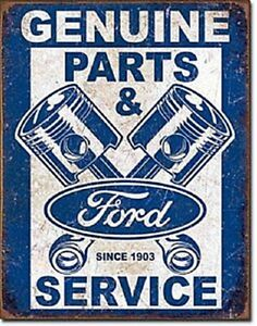 Ford Genuine Parts & Service  (Pistons) large metal sign 410mm x 320mm (sf)
