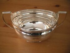 George III large reeded silver sugar bowl, London 1804,  211 grams