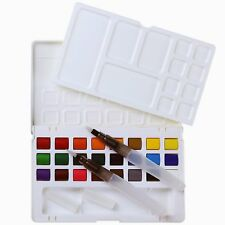 MEEDEN Watercolor Paint Kit - 24 Colors & 2 Water Brushes & A  Mixing Palette
