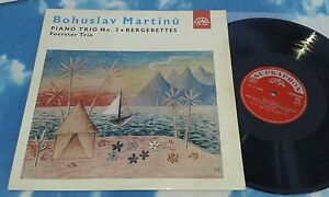 SUPRAPHON  SUA ST 50698 MARTINU - PIANO TRIO NO 3 BERGERETTES